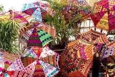 Handmade Attractive Beautiful Parasols Home Garden Decor 5 pc wholesale-Lot