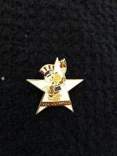 1984 LOS ANGELES OLYMPICS SAM THE EAGLE MASCOT & TORCH STAR PIN