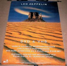 LED ZEPPELIN SUPERB LARGE UK RECORD COMPANY PROMO POSTER FOR 'DVD' RELEASE 2003