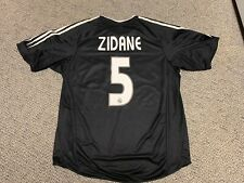 2004 2005 Real Madrid Zidane Jersey Shirt Kit Home Adidas L Large Black Away 5
