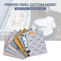 8PCS Cotton Craft Fabric Bundle Patchwork Squares Quilting Sewing DIY UK
