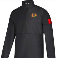 Adidas climalite Chicago Blackhawks Game Mode 1/4 Zip Jacket NHL hockey men team