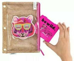 Binder Zip Pencil Case - Glitter Tiger -pen & pencil bag