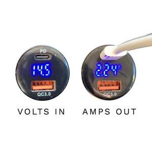 MyGoFlight Dual Digital USB Charger with Digital Volt/Amp Display
