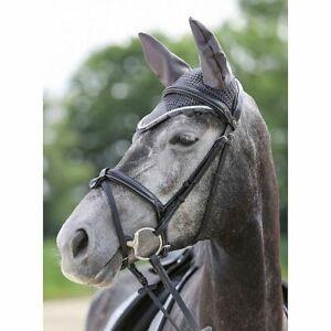 HKM Crochet Fly Veil Horse Ear Bonnet 20 Colours in 3 Sizes Fast & Free Postage