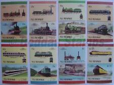 1987 NUI (Tuvalu) Set #3 Train Locomotive Railway Stamps (Leaders of the World)