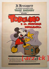 TOPOLINO supplemento IL MESSAGGERO Topolino e la spedizione fotografica 3/11/90