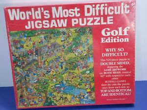 Worlds Most Difficult Jigsaw Puzzle Golf Edition 529 Pc Double Sided Sealed New