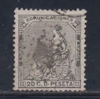 ESPAÑA (1873) USADO SPAIN - EDIFIL 134 (20 cts) CORONA - LOTE 2