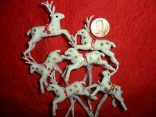 Vintage White Minature Plastic Flying Reindeer