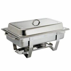 Olympia Chafing Dish Made of 1/1 GN Stainless Steel with Two Fuel Holders