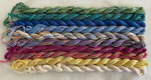 #1 Rainbow Colors 10 Caron Waterlilies 12 Ply Silk Thread Without Tags