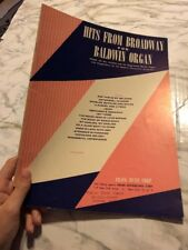 Hits from Broadway for Baldwin Organ Sheet Music Book 1958 Spinet 45 5A