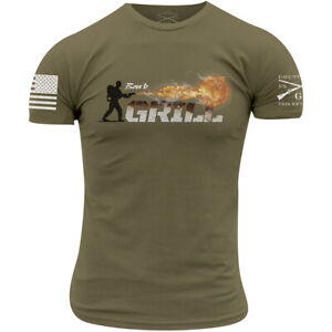 Grunt Style Born To Grill T-Shirt - Military Green