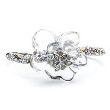 Alexis Bittar Marquis Crystal Centered Gardenia Lucite Bracelet