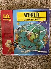 Vintage 1989 I.Q. Games World Geography Flash Card Quiz Game Educational Insight