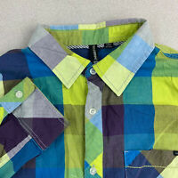 Ocean Current Button Up Shirt Mens Medium Multicolor Plaid Long Sleeve Casual