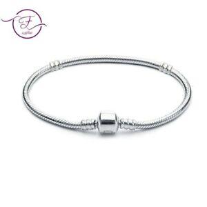 Authentic 925 Silver Snake Chain Bangle & Bracelet Women Charm Luxury Jewelry