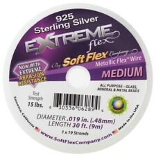 Soft Flex Wire Extreme 925 Sterling Silver .019, 30 ft,19 Strands,0.45mm - FT492