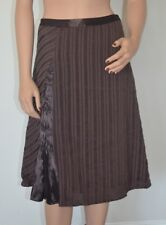 J. Jill Striped Brown A-Line Skirt Size 4 New