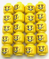 Vertical Cheek Lines Head Blue Eyebrows LEGO x 10 Yellow Pharaoh Minifig