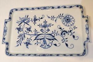 """Meissen Porcelain Blue Onion Large Serving Dish 15"""" X 8 3/4"""" Excellent"""