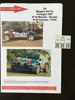 DECALS 1/43 RENAULT MEGANE MAXI KIT CAR AZEREDO RALLYE PORTUGAL 1997 WRC RALLY