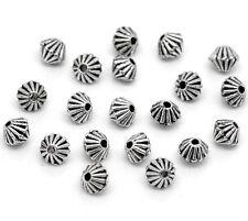 20x Metallperlen Spacer beads antiksilber Doppel Kegel 4x4mm NEU Schmuck Basteln