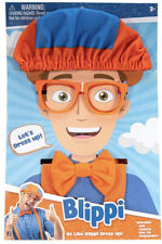 NEW Blippi Roleplay Dress up Costume Hat Glasses Suspenders Bow tie