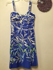 Womens Dress Size 10 bra top blue green white adjustable strap Madison Leigh173