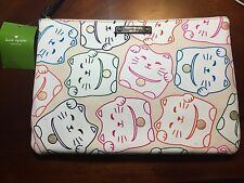 Kate Spade Lucky Chinese Cat Print Multi Makeup Cosmetic Bag Pouch