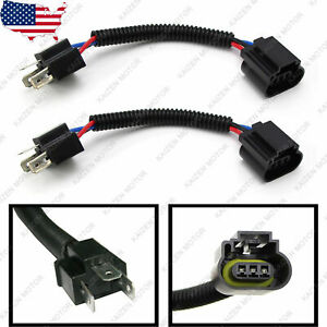 2x H4 9003 to H13 9008 Headlight Conversion Cable Wiring Harness Socket Adapter