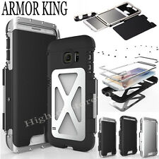 Armor King Aluminum Metal Stainless Steel 360°Flip Stand Case For Samsung iPhone