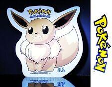 Vintage 1999 Nintendo Pokemon Eevee #133  vinyl sticker + FREE BONUS Pikachu