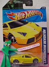 2011 i Hot Wheels LAMBORGHINI REVENTON #118☆Yellow☆Nightburnerz☆Green Lantern