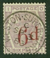 SG 162 6d on 6d variety. Second state left dot (under d) only. Adhesive OI...