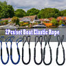 2pcs Blue Boat Leash Elastic Bungee Dock Line Mooring Rope Stretching Accessorie