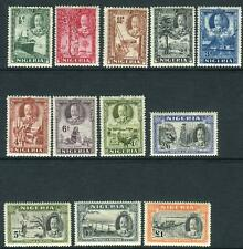 NIGERIA-1936  A lightly mounted mint set to £1 Sg 34-45