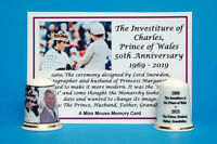 50th Anniversary, Investiture of Charles Prince of Wales Thimble + Card B/140