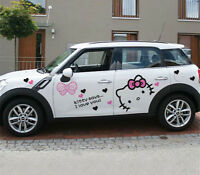 Hello Kitty Car auto Decal Sticker Doors Engine back tankcap rear viewmirror