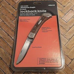 SEARS CRAFTSMAN KNIFE MADE IN USA #95232 LOCKBACK AMERICAN EAGLE SERIES VINTAGE