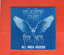 Stevie Nicks The Wild Heart Tour 1983 Cloth All Area Access Pass Blue Unused!