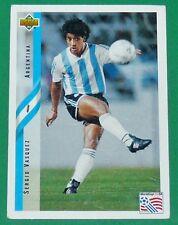 FOOTBALL CARD UPPER DECK 1994 USA 94 SERGIO VASQUEZ ARGENTINA ARGENTINE