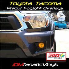 12-15 Tacoma Yellow Fog Light Overlays Tint Vinyl Film JDM Precut EDM HID Smoked