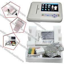 Colore Touchscreen 6 Canali 12 derivazioni ECG / EKG, dell'Elettrocardiografo CE