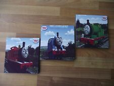 Thomas The Tank Engine Canvas Wall Art Plaques Pictures Set Postage