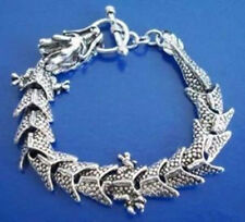 Men's pretty Tibetan Tibet Silver dragon Bangle Bracelet