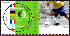 2840 BRAZIL 2002 WORLD CUP, ,FIFA, SOCCER FOOTBALL, FLAGS, SPORT,MI# 3226-27,MNH