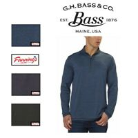 NEW! G.H. Bass & Co. Mens Shirt Pullover 1/4 Zip Dry Wicking Stretch VARIETY I42