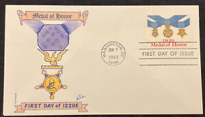 20 cent Medal of Honor FDC (Scott #2045) Hand colored #34 of 75 Swindall GAMM
